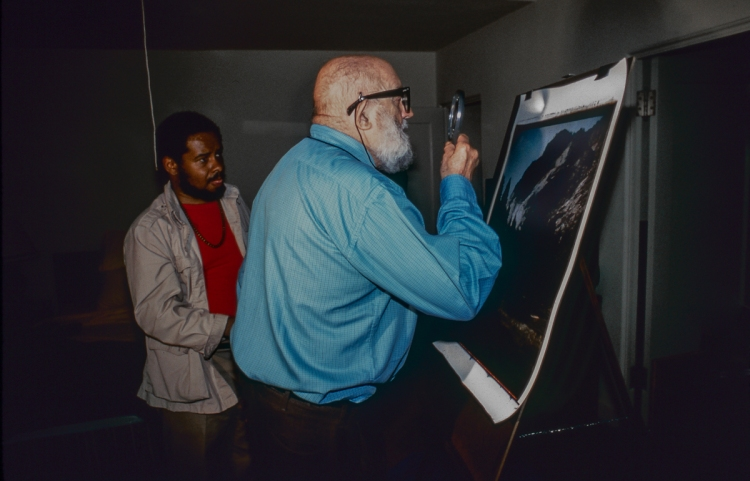 Rogier Gregoire and Ansel Adams, 1981