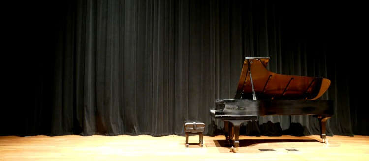 Steinway Model D Concert Grand in the Fresno State Concert Hall.