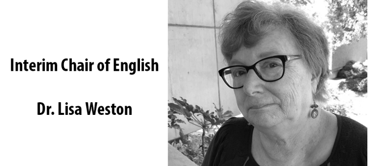 Interim Chair of English - Dr. Lisa Weston