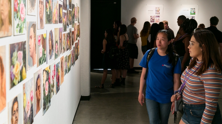 Student showcase at Conley Arts Gallery