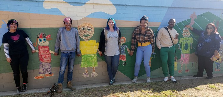 Fresno City College students Angelica Derminasian, Tommy Duch, Julia Armstrong, Chassidy Huren, Fredrick McCarty, Lillian Serrato.