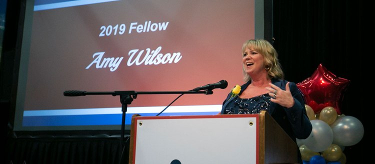 2019 Fellow Amy Wilson (1994), director of communications at Community Medical Centers.