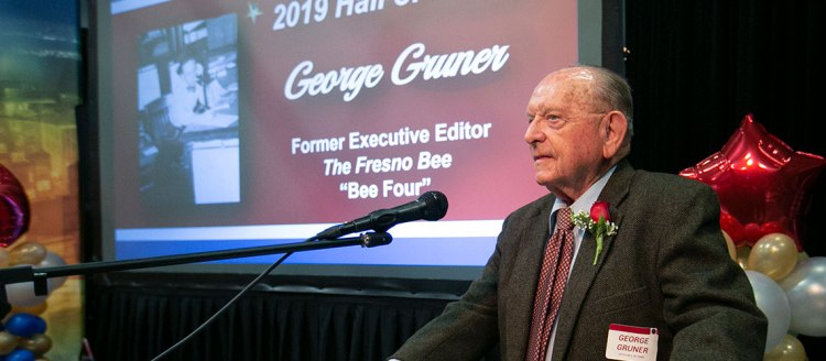 2019 Hall of Fame inductee George Gruner