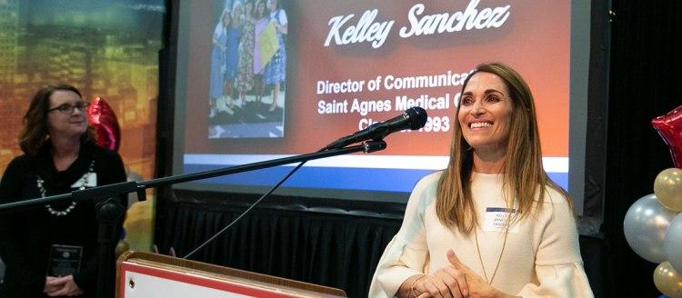 2019 Fellow Kelley Annette Sanchez (1993), director of communications at Saint Agnes Medical Center.