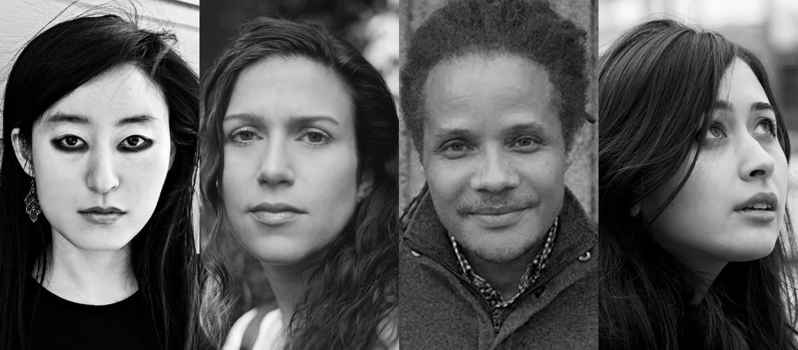 Fiction writers R. O. Kwon, Emily Nemens, Jamel Brinkley, Rowan Hisayo Buchanan