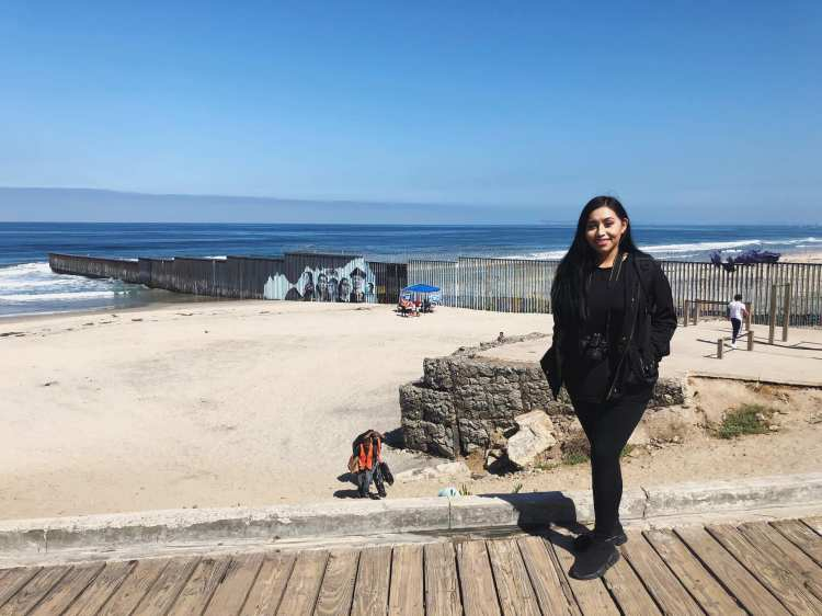Lizbeth De La Cruz Santana at Playas de Tijuana