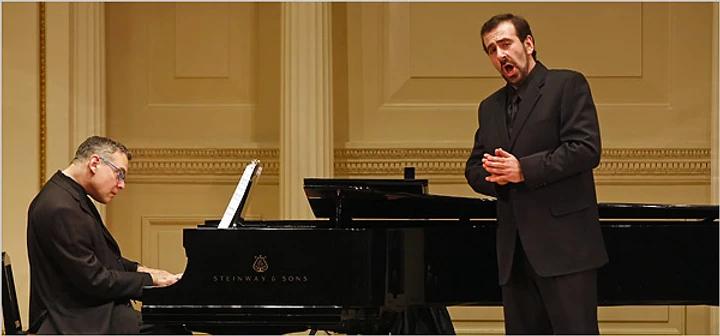 Dr. Anton Belov on at Carnegie Recital Hall with Steven Bier