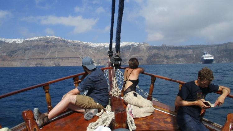 Classics students on Greek Trip