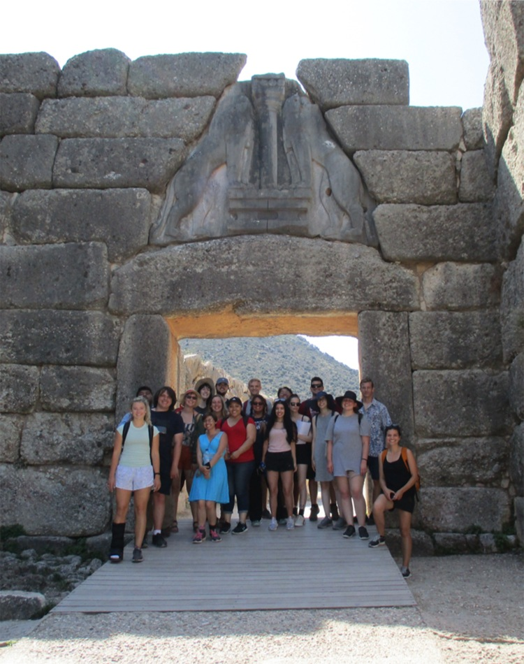 Classics students in Greece