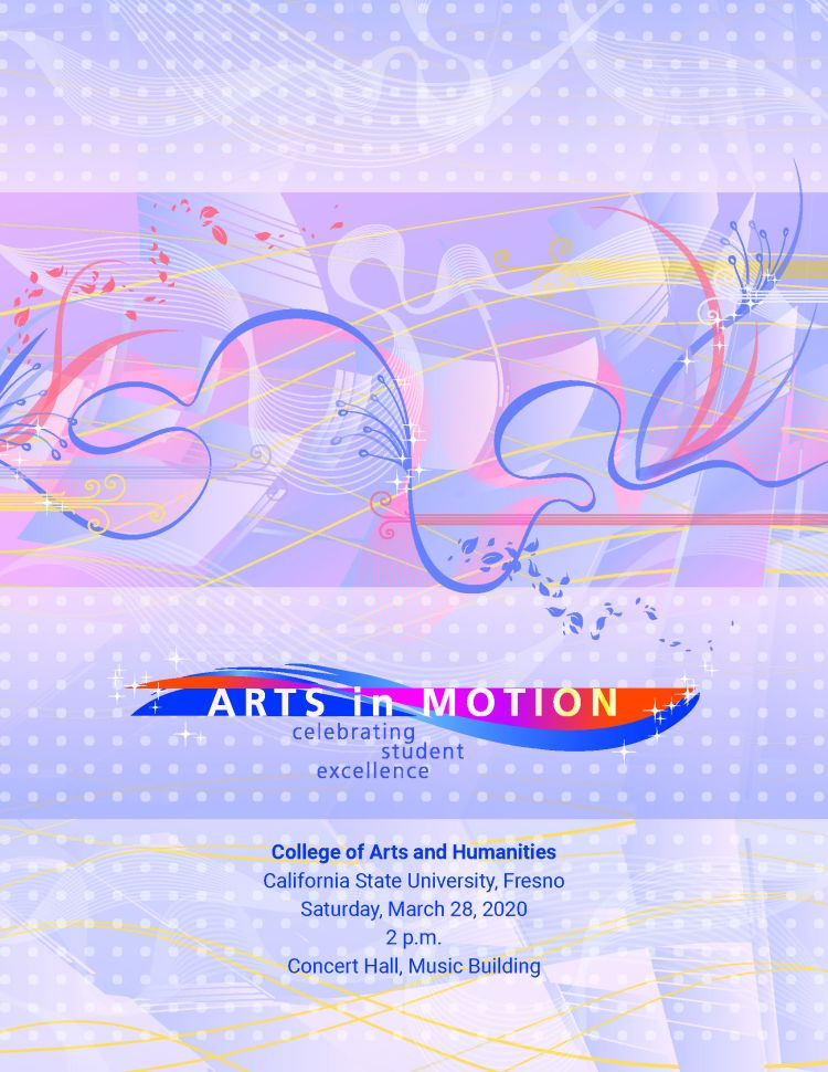 2020 Arts in Motion Program cover | Celebrating Student Excellence