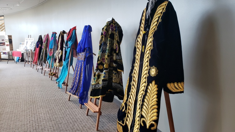 Clothing displayed in the Nowruz exhibition
