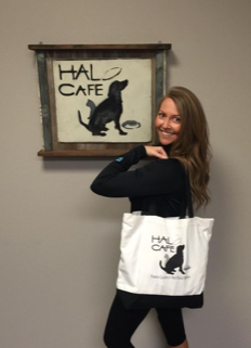 Quinn-Yovino started the Halo Café in 2011 after she noticed that many who had fallen on hard times would often have to choose between taking care of themselves or feeding their pets.
