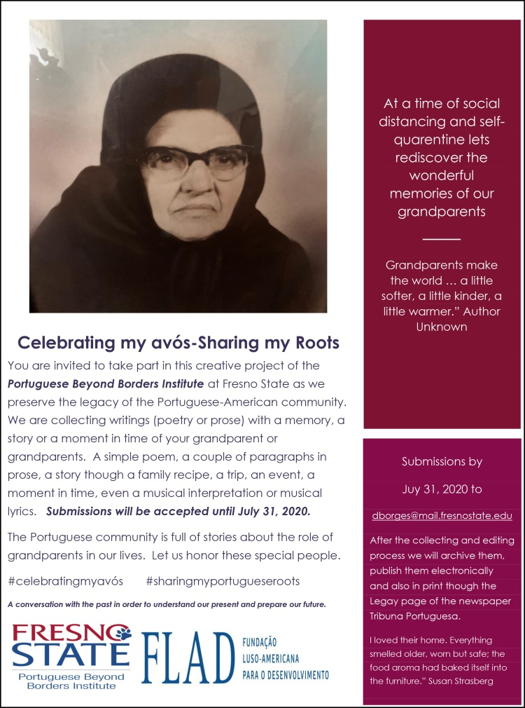 """Celebrating my avós-Sharing my Roots"" project flier"