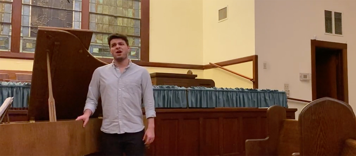 Baritone Christopher Rodriguez video for the National Classical Singer Competition