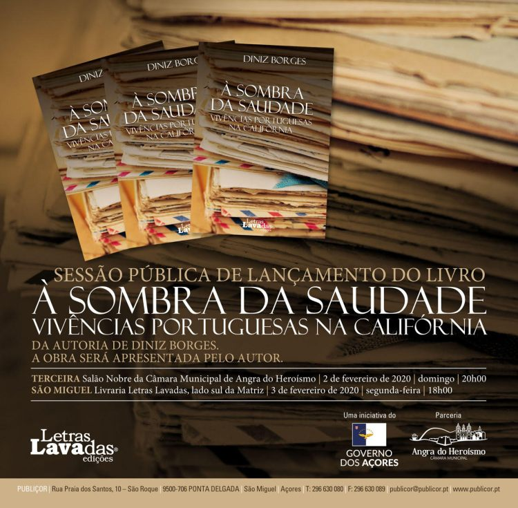 Flier for a book presentation event in the Azores.