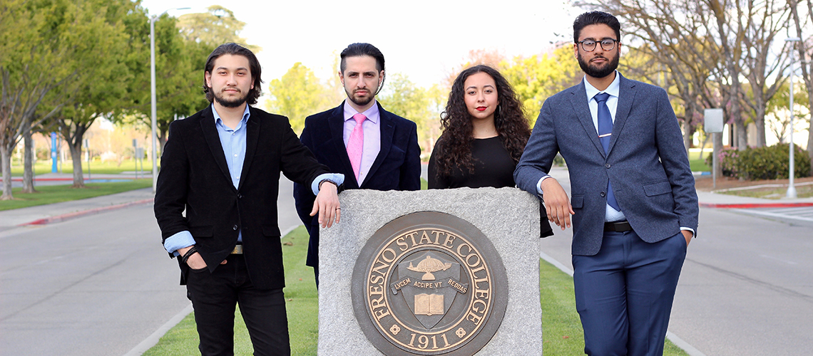 From left: Aaron Lowe, Tom Boroujeni, Primavera Leal Martinez, and Aranveer Litt.