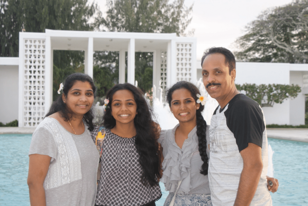 Anindita Rajasekaren and her family
