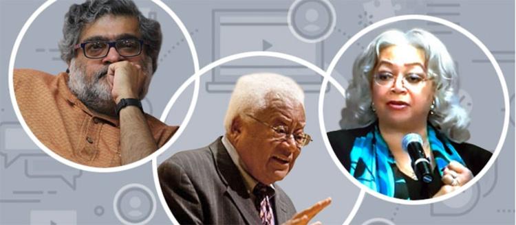 Vinay Lal, Rev. James M. Lawson Jr. and Dianne Dillon-Ridgley headshots.