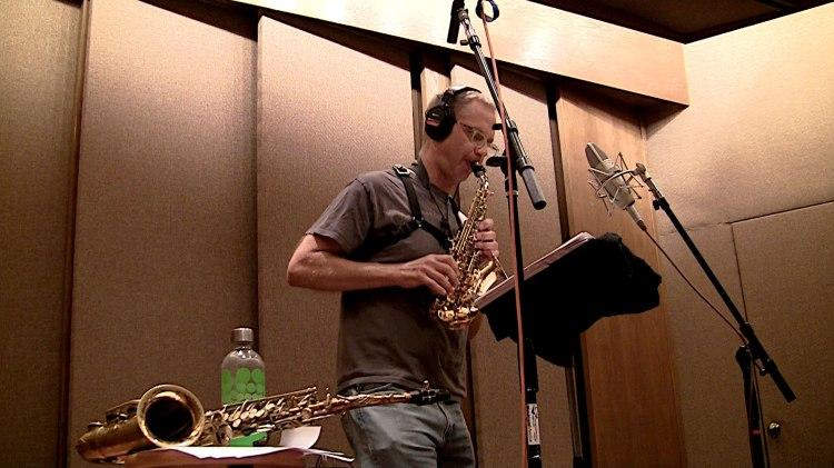 Benjamin Boone in the studio