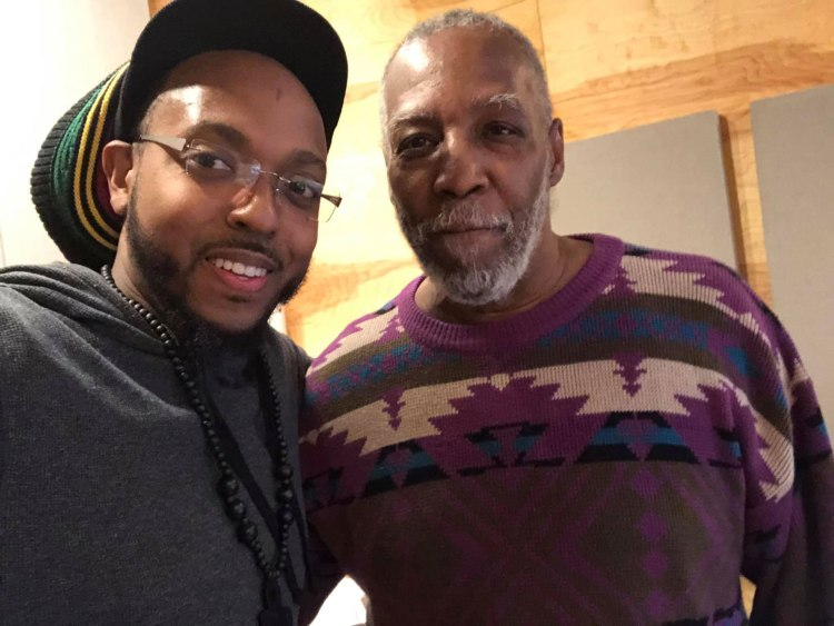 Corcoran Holt and Donald Brown in the studio