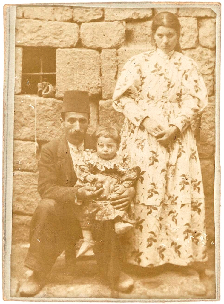 Photograph of the Shekoyan family from Bitlis taken in 1907. Source: Prime Minister's Ottoman State Archives.