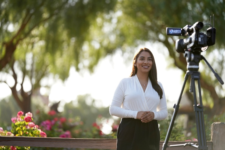 Alumna Gina Avalos reports the news for KSBY-TV on California's Central Coast.