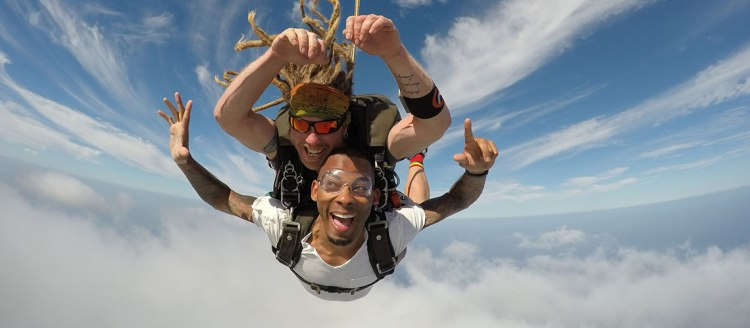 Mike Williams skydiving