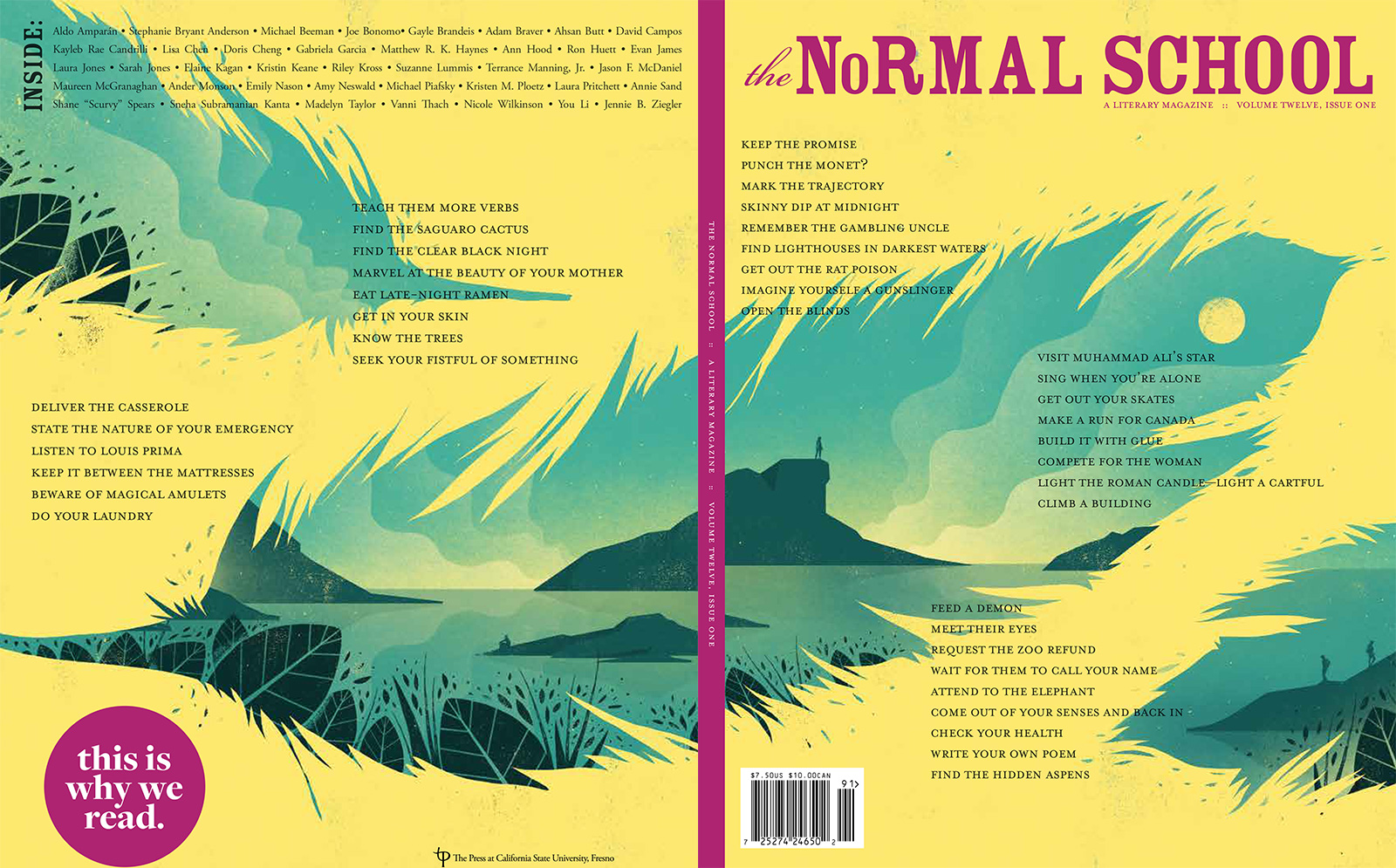 Back and front cover of the final Normal School Magazine print edition