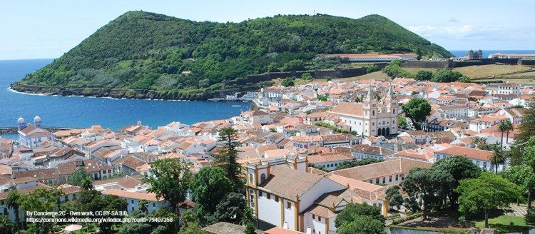 The City of Angra in the Azores