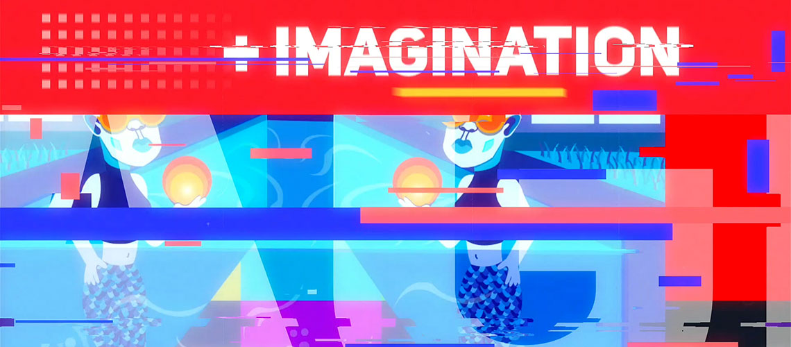 Abstract Art and Design screenshot of State of the College video.