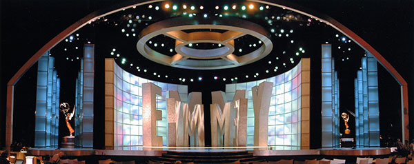 Emmy Awards set designed by Roy Christopher.