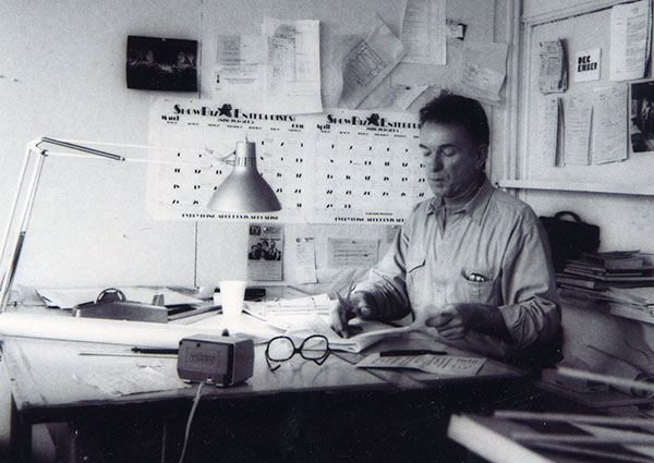 Roy Christopher at work.