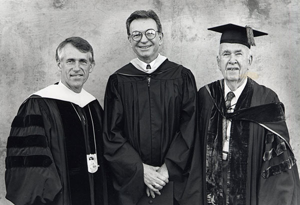 Dr. John D. Welty, Roy Christopher, and Dr. Arnold E. Joyal.