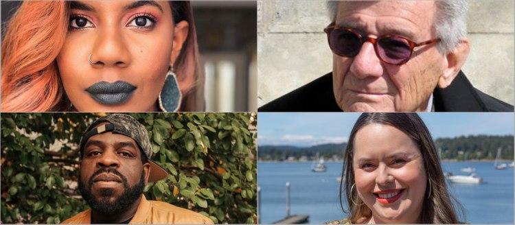 Four headshots: Nic Stone, Gerald Vizenor, Hanif Abdurraqib and Dr. Monica De La Torre
