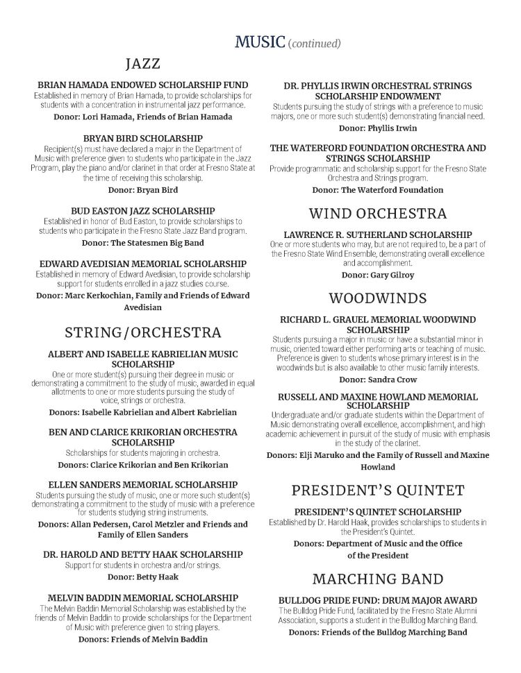 Arts in Motion program general scholarships - Please download the 2021 Arts in Motion Program PDF for accessibility options