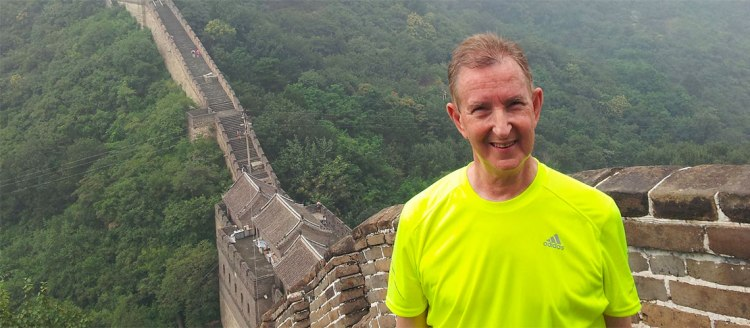 Dr. Warren Leslie Kessler at the Great Wall of China