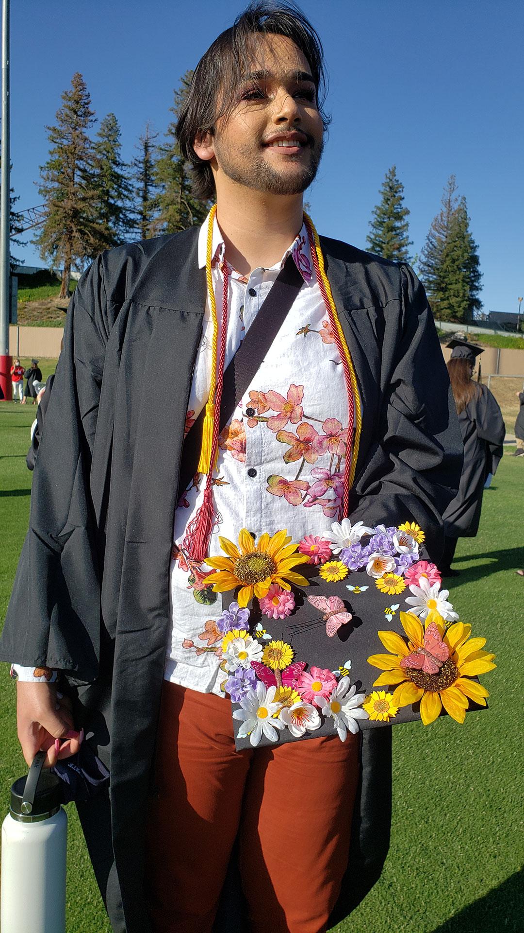 Decorated grad cap.