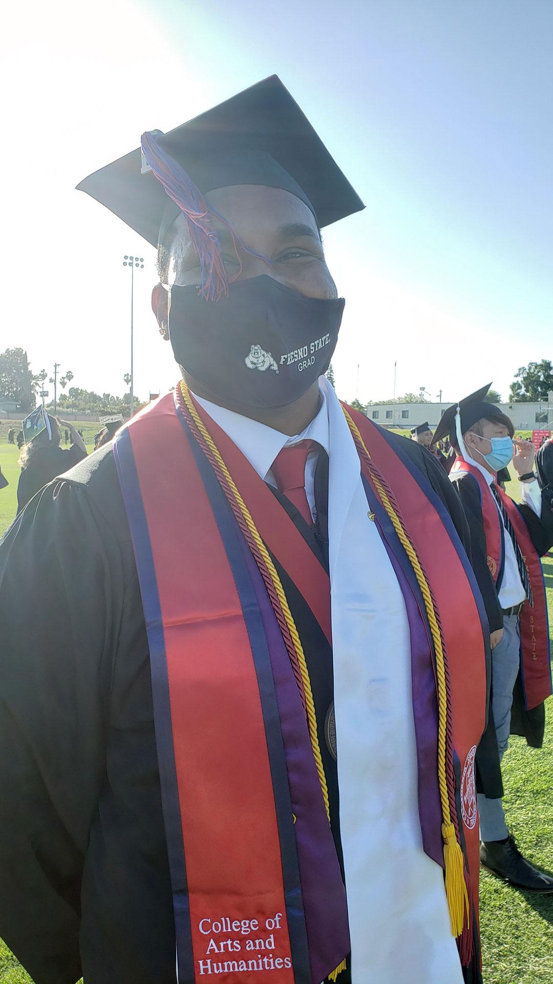 Undergraduate Dean's Medalist Caleb Charles.