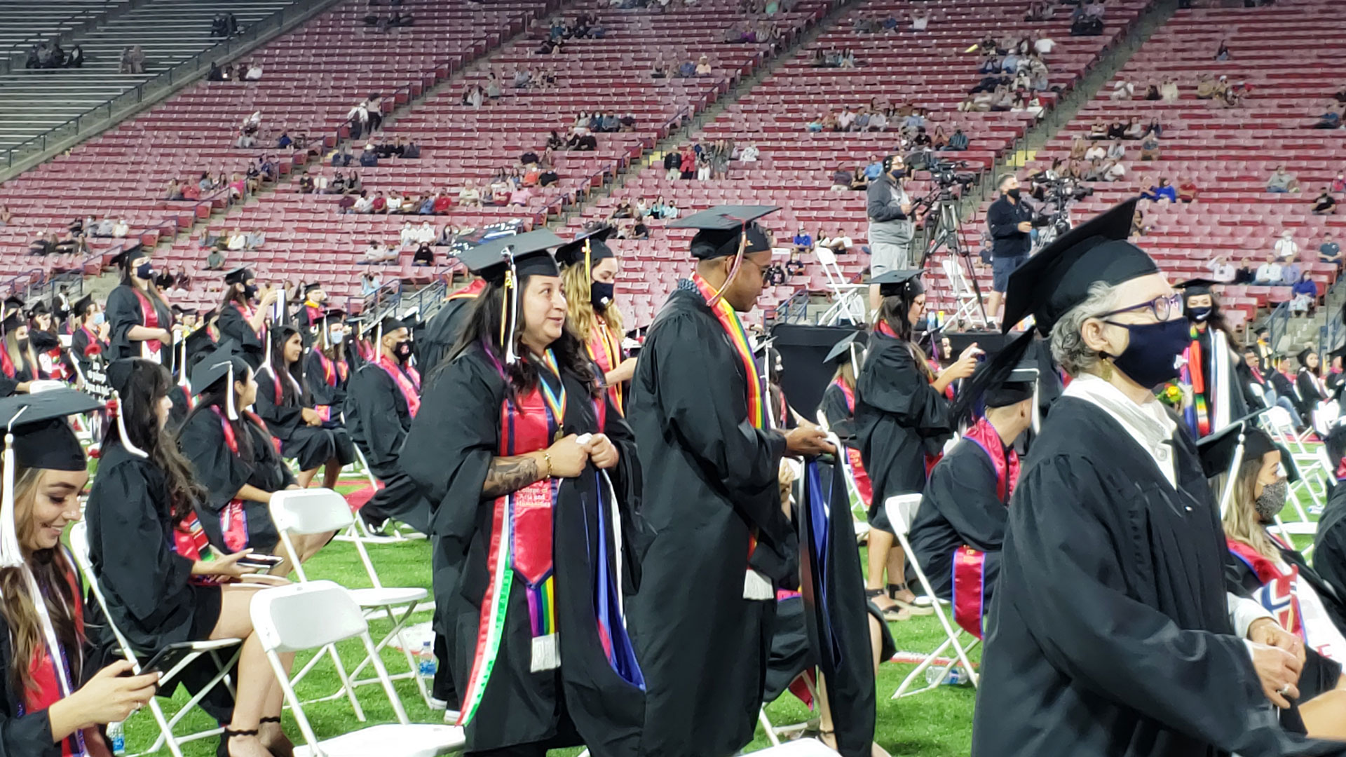 Students during the commencement ceremony.