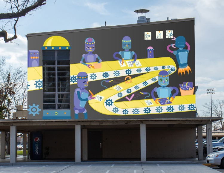Out Of Home & Ambient Media - Outdoor & Transit Advertising Silver – Creative Factory Mural Brianna Ozuna