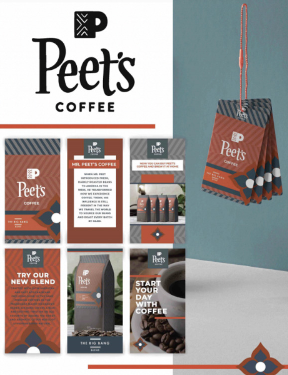 Cross Platform – Integrated Campaigns - Integrated Brand Identity Campaign Silver – Peet's Coffee Brand Identity Cody Medaris