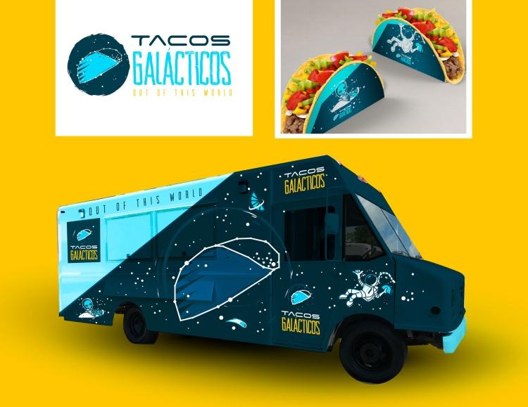 Elements Of Advertising – Visual – Logo Design Silver – Taco Galacticos Eduardo Reveles