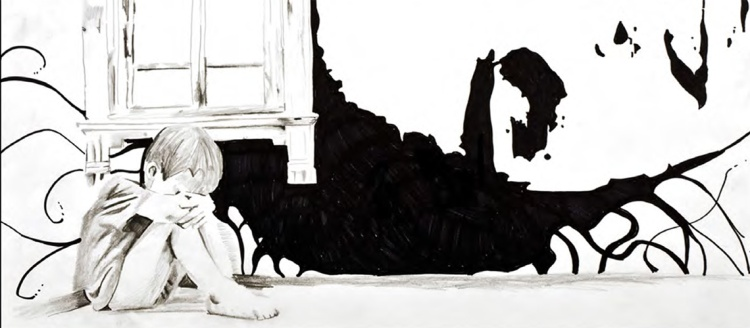"""""""Home"""" - 2013 (Ink & Graphite on Paper - 24x36 in.)"""