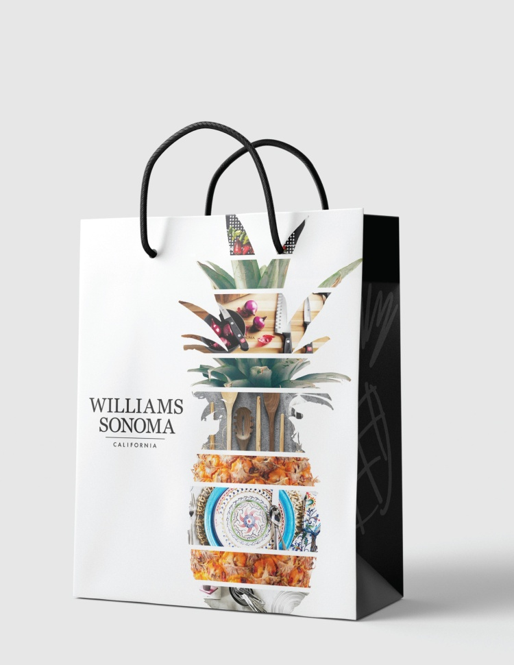 Gold – William Sonoma Shopping Bag Monica Sousa