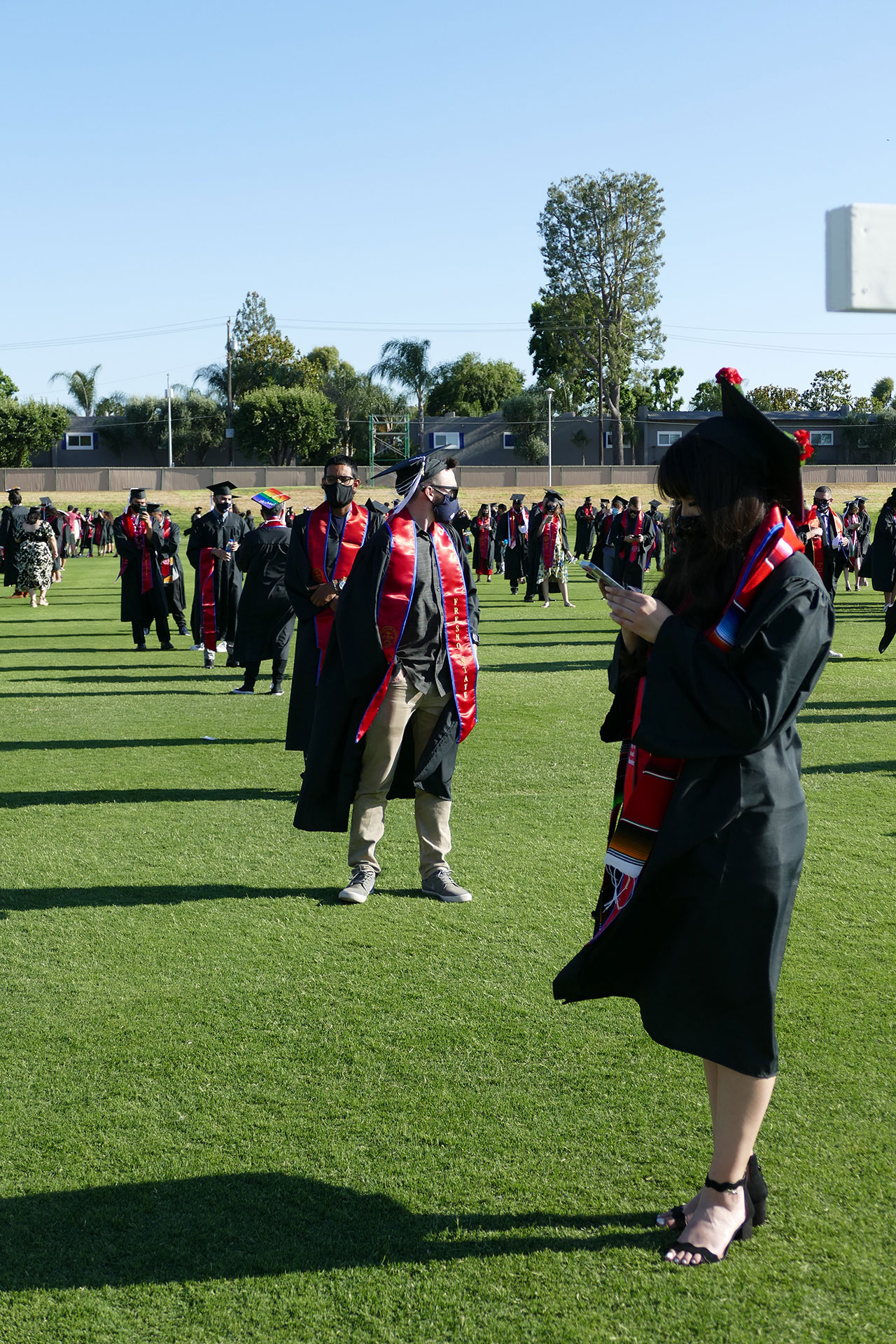 Students line up, ready for the procession.