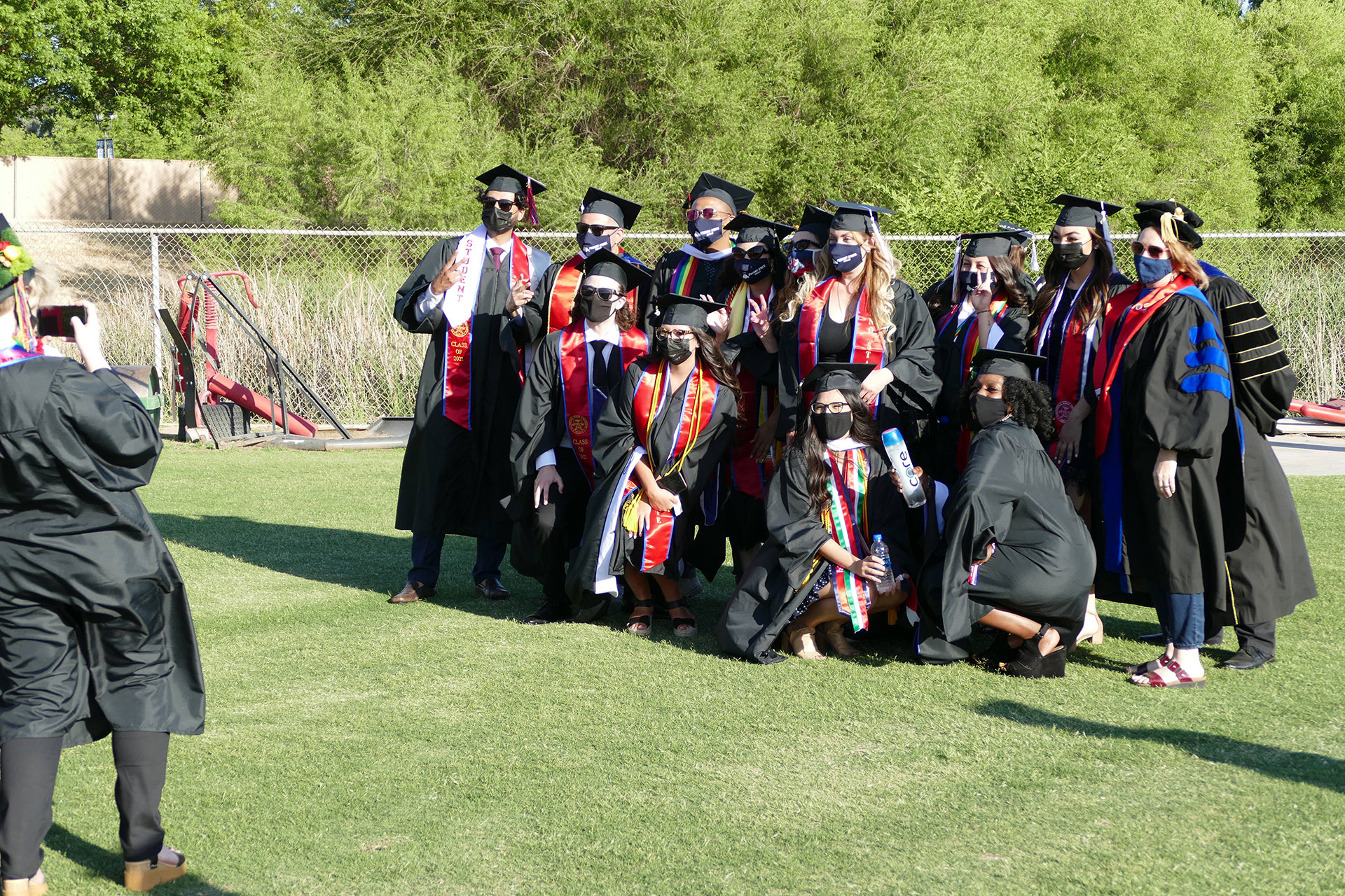 Students pose for a picture before the ceremony.