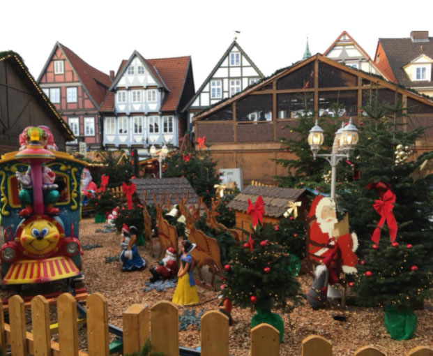 Celle, Lower Saxony, Germany – Christmas Market Decorations