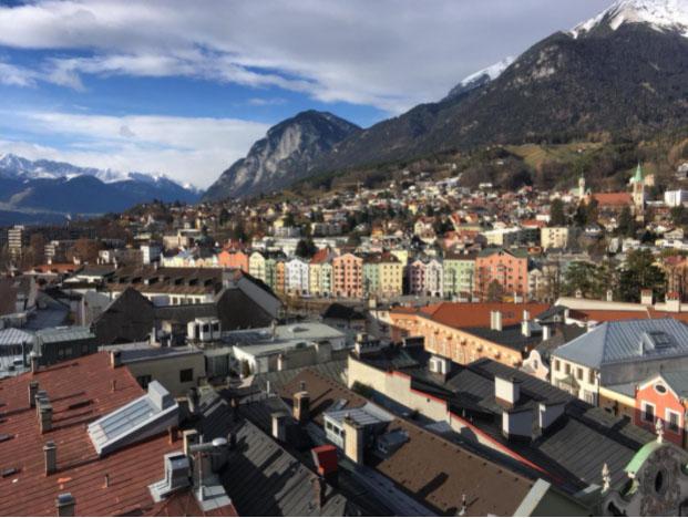 From the Stadtturm in Innsbruck, Tyrol, Austria