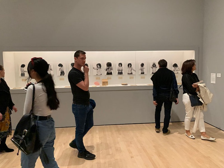 """""""I Tried Everything"""" (1972) in the 2019 San Francisco Museum of Modern Art (SFMOMA) installation as part of Suzanne Lacy's retrospective """"We Are Here."""""""