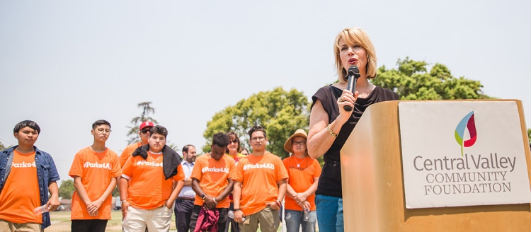 Ashley Swearengin speaks at a Central Valley Community Foundation event